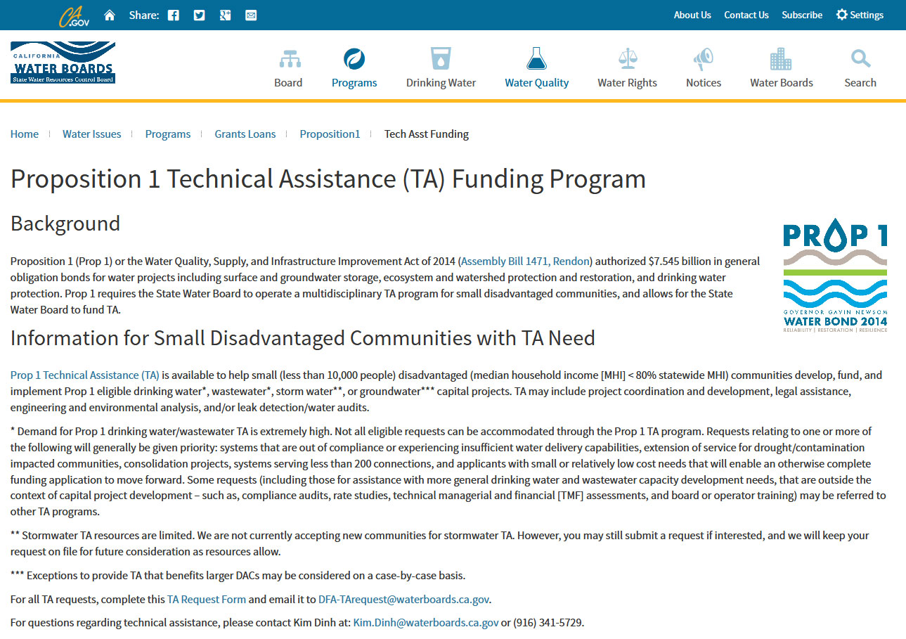 Technical Assistance for Disadvantaged Communities